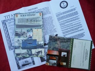 Piece Of Timber From Rms Titanic. .  1912 Recovery With Coa & One Page Of History photo