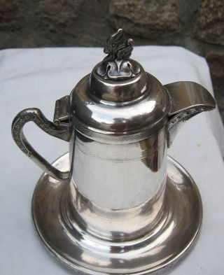 Rare Antique Silver Plate Syrup Pitcher Gotham Silver Co.  Rogers & Bros.  250 photo