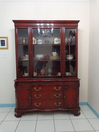Antique Dining Room China Cabinet Condition,  American Made photo