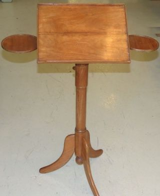 Unusual Antique Fruitwood Music Stand photo