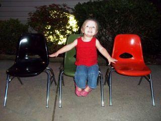 Mid - Century Modern Herman Miller Style Krueger 3 Stacking Child ' S Scoop Chairs photo