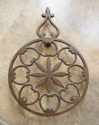 Antique Brass Trivet Flat Footed Feet Made In H.  H.  India photo