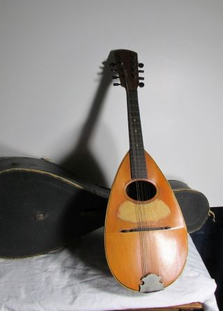 Antique Mandolin Bowlback Patent Date 1886 With Case photo
