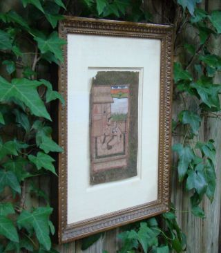 Antique Qajar Safadid Painting Gouache Paper Indo Persian Manuscript Man Woman photo