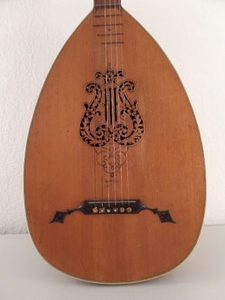 Old Edelglocke German Antique Lyra Style Historical Lute Luth No Guitar Violin photo