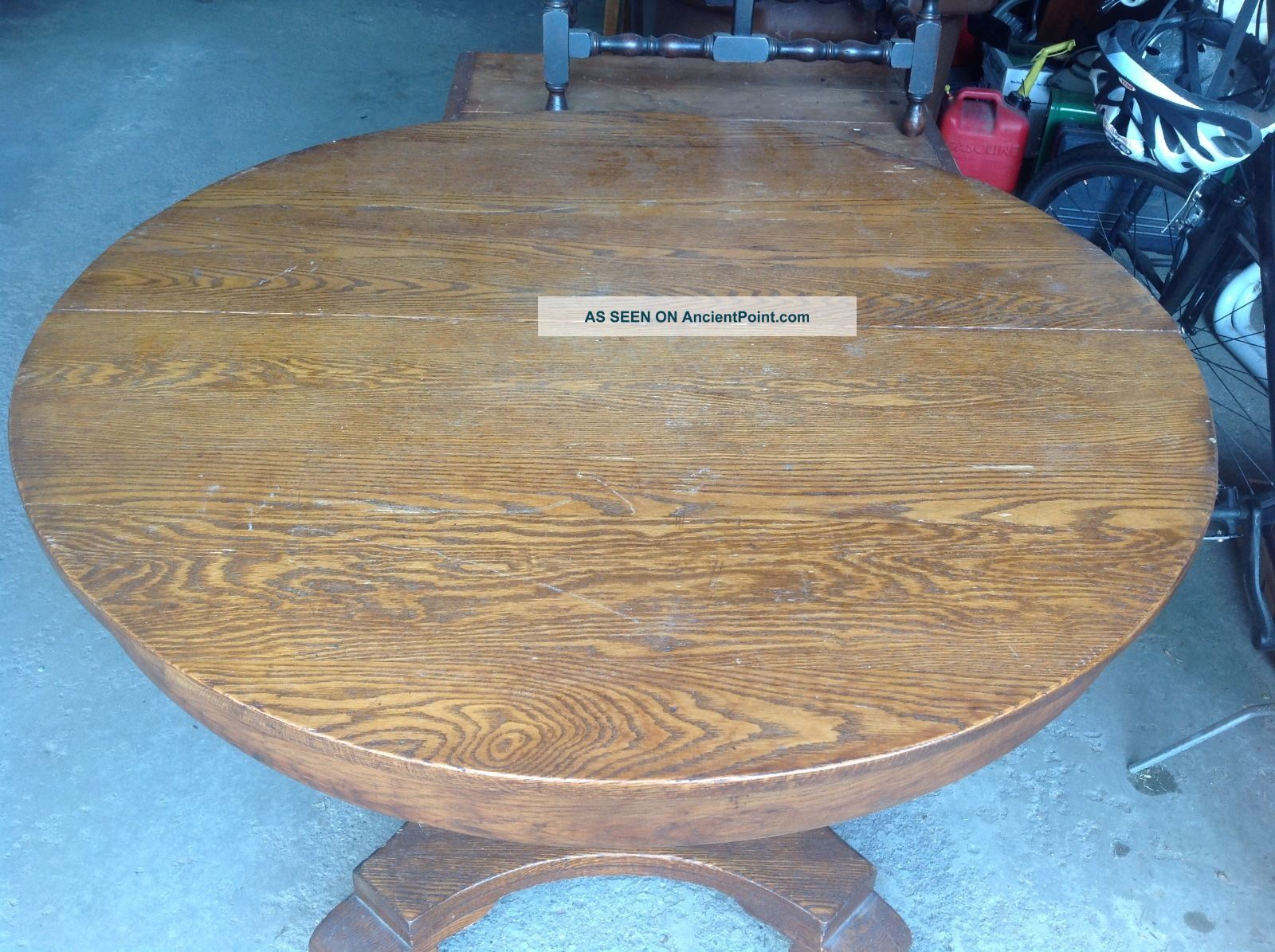 Antique Oak Table And 4 Chairs 1900-1950 photo