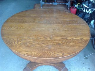 Antique Oak Table And 4 Chairs photo