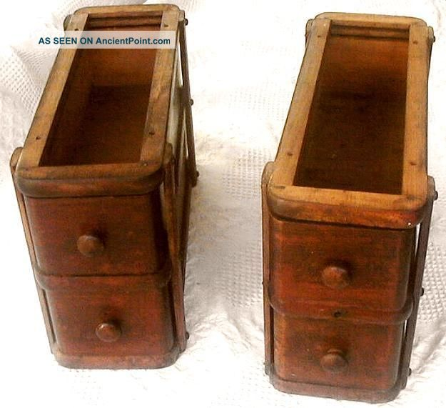 Early 1900 ' S Singer Oak Treadle Sewing Machine Cabinet Drawers & Frames Sewing Machines photo