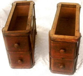 Early 1900 ' S Singer Oak Treadle Sewing Machine Cabinet Drawers & Frames photo