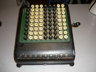 Antique Vintage Burroughs Calculator Adding Machine Comptometer - 1920 ' S photo