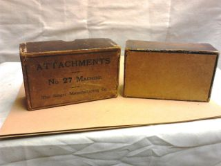 Singer No.  27 Attachment Box For Treadle Sewing Machines Circa 1890 Antique photo