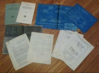 1924 Rock Dusting N Pittsburgh Coal Mines Books,  Signed Letters & Blueprint photo