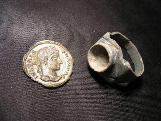 Crispus Antoninius & Roman Finger Ring photo