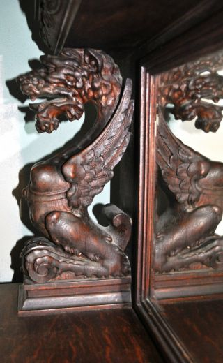 Amazing Antique Gargoyles Ornate Buffet Italian Renaissance Period 1400 - 1700 ' S photo