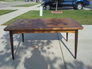 Modern Danish Teak Hidden Leaf Table photo
