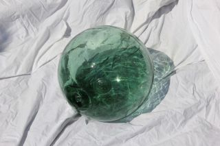 Vintage Japanese Glass Fishing Float,  With Maker ' S Mark photo