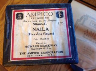 Ampico Piano Roll 50445 - G Naila (pas Des Fleurs) Pb Howard Brockaway Cpyrt 1916 photo