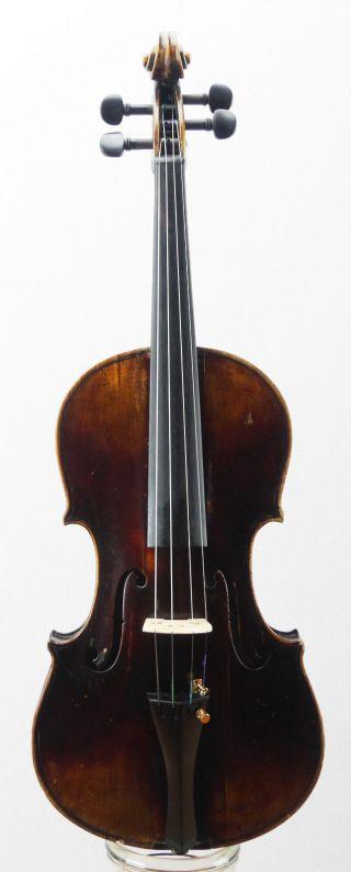 Antique Soffritti Ettore Anno 1902 Labeled 4/4 Old Violin photo