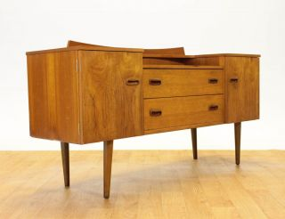 Retro Mid Century Credenza/dresser By Lebus Of England.  Vintage.  Mcm. photo
