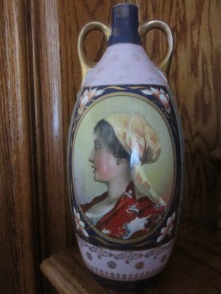 Antique Royal Vienna Portrait Vase From Beverly Hills Estate photo