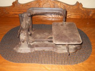 Rare Antique 1800 ' S Cast Iron Unique Sewing Machine Body/part photo
