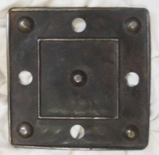 Antique / Vintage Tin Trivet / Iron Rest Vtg Ironing Board Iron Rest Rusty Chic photo