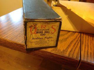 Qrs Autographed Piano Roll 690 Arabian Nights Pb.  Osborne & Hewitt (1918) photo