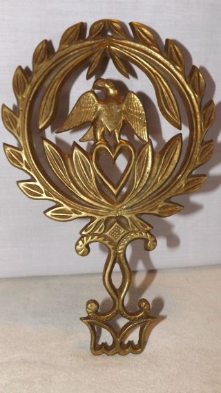Vintage Brass Trivet Virginia Metalcrafters Eagle photo