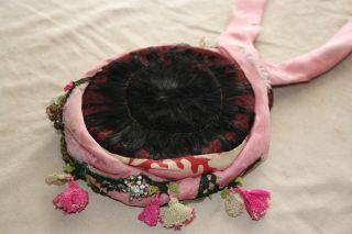 Ottoman Turkish Handmade Ladies ' Headdress With Sequins And Pinked Kerchief Lace photo