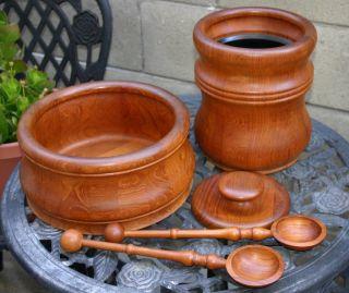 Vintage Nissen Teak - Ice Bucket & Salad Bowl Set - Signed photo