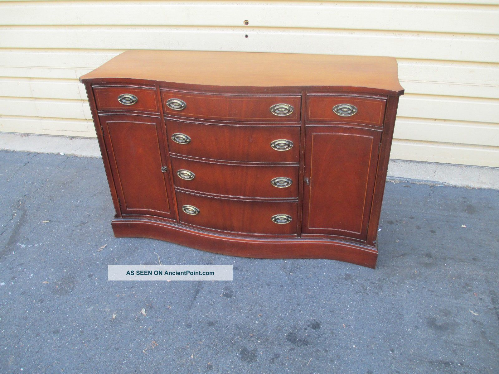 52876 Bassett Buffet Sideboard Server 1900-1950 photo