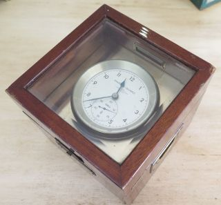 Vintage Marine Wempe Quartz Chronometer Ships Deck Clock No 13654 1969 photo