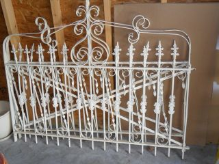 White Architectural Victorian Iron Gates Ludlow Saylor Wire Co.  St.  Louis photo