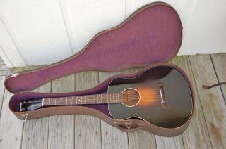 1935 Pre - War Gibson Kalamazoo Kg - 11 L 00 L 1 Acoustic Guitar Case Exc photo