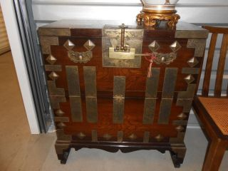 Vintage 19th.  Century Korean Tansu Chest photo