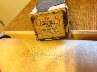 Qrs Autograph Word Roll 1044 Bell Hop Blues Fox Trot Goodman Pb.  Pete Wendling photo