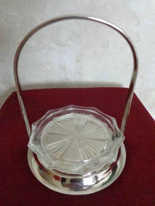 Leonard Silver Plate Coaster Holder (0960) photo
