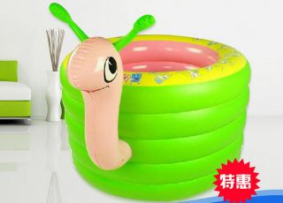 Lovely Snail Rings Baby Bath Barrels Day Bed Inflatable Bath Tub Swimming Pool photo