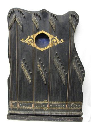 Antique 1902 Regent No.  5 Zither (auto Harp) With All Strings,  No Cracks In Wood photo