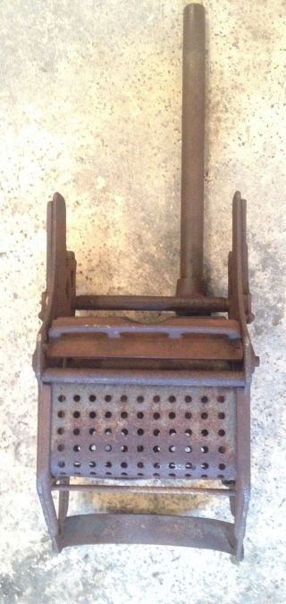 Antique 1932 Sanitary Supply Co Cast Iron Mop Bucket Wringer photo