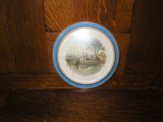 Antique Elliot & Son Collectors Plate/trivet C 1880 English photo