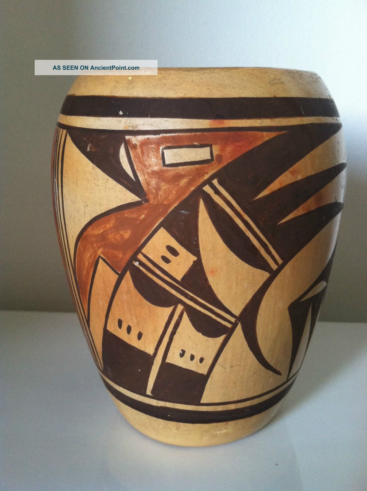 Vintage,  Antique Old Hopi Vase,  Navaquavi?,  Design And Colors, Native American photo