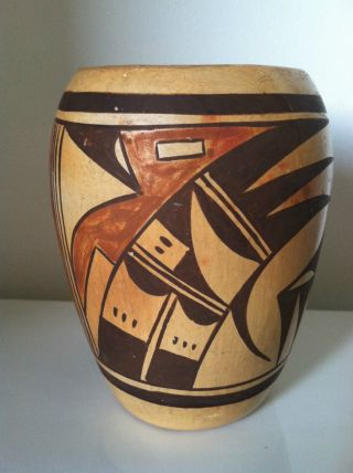 Vintage,  Antique Old Hopi Vase,  Navaquavi?,  Design And Colors, photo