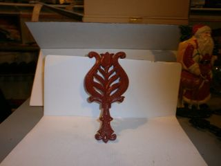 Vintiage Flower Trivet Red.  By Milton photo