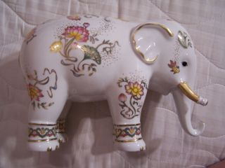 Rare Porcelain Franklin Mint Imperial Elephant Of Wisdom Japan 1989 photo