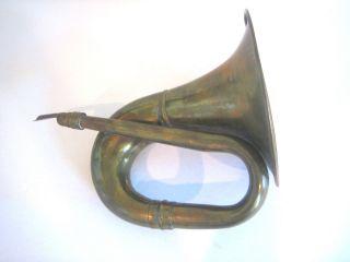 Antique Brass Bugle Horn photo