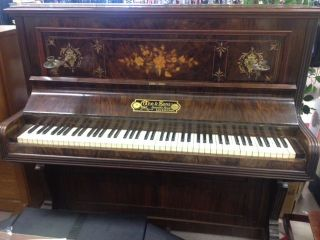 Crane And Sons Antique Upright Piano Late 19 Th Century - photo