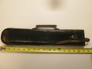 Vintage Antique Hand Tooled Leather Musical Instrument Case Flesberg Co.  1920 - 29 photo
