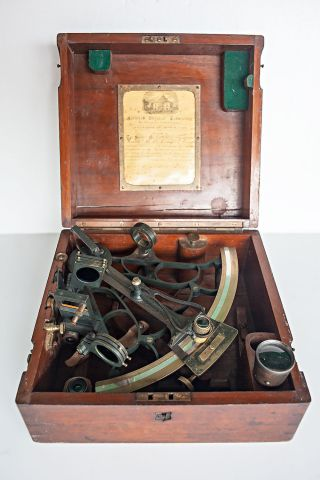 Antique Maritime Sextant 1909 Heath & Co Crayford London photo