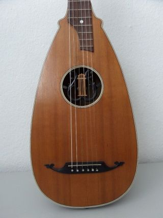 Very Rare Antique Historical Old Lute Luth No Guitar Violin Bouzouki German photo